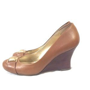 Guess Size 9.5 Brown Wedge Heel Pumps Shoes